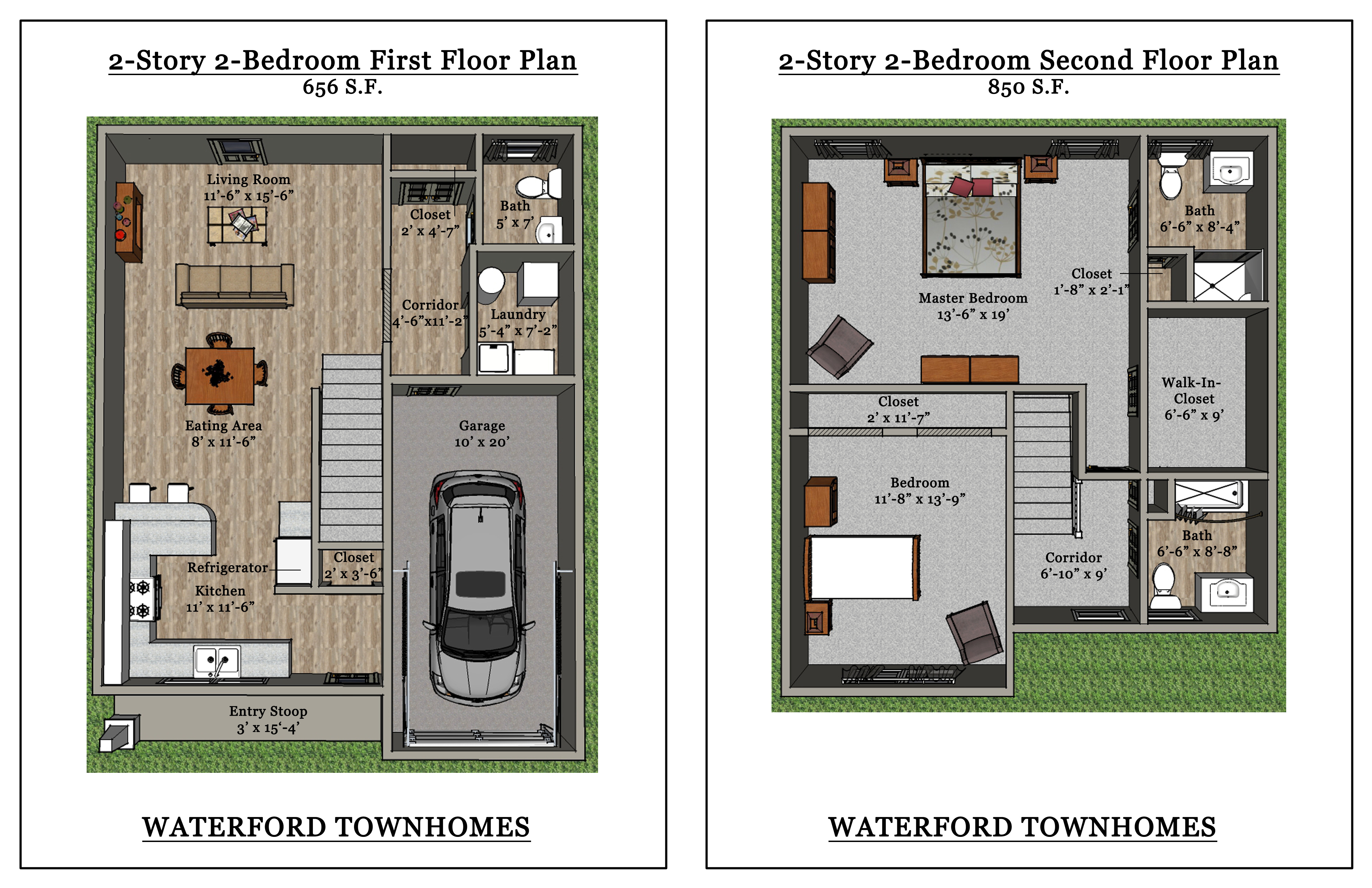 Two Bedroom Apartments for Rent | Clarence NY | Waterford ...